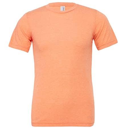 Unisex Triblend Crew Neck T-Shirt in Orange Triblend (Heather) von Canvas (Artnum: CV3413