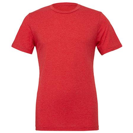 Unisex Triblend Crew Neck T-Shirt in Red Triblend (Heather) von Canvas (Artnum: CV3413