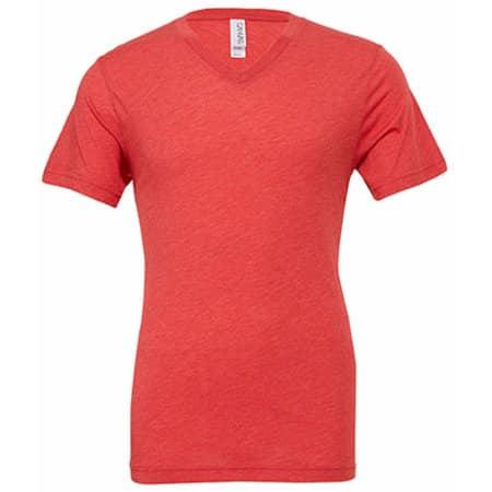Triblend V-Neck T-Shirt in Red Triblend (Heather) von Canvas (Artnum: CV3415