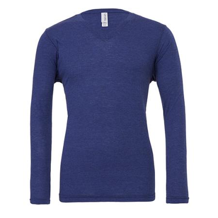 Triblend Long Sleeve V-Neck T-Shirt von Canvas (Artnum: CV3425