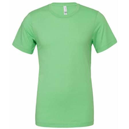 Unisex Poly-Cotton Short Sleeve Tee in Neon Green von Canvas (Artnum: CV3650
