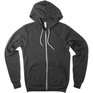 Unisex Zip-Up Poly-Cotton Fleece Hoodie