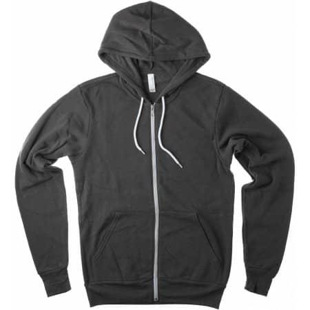 Unisex Zip-Up Poly-Cotton Fleece Hoodie von Canvas (Artnum: CV3739