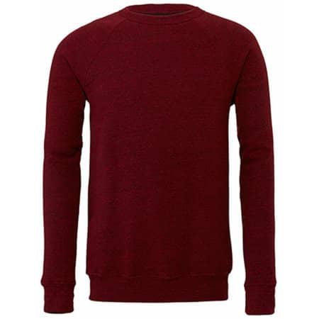 Triblend Sponge Fleece Sweatshirt in Cardinal Triblend (Heather) von Canvas (Artnum: CV3901