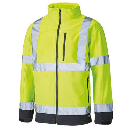 High Visible Softshell Jacket in Yellow|Navy von Dickies (Artnum: DK2007