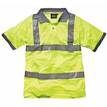 Hochsichtbares Polo-Shirt in Saturn Yellow von Dickies (Artnum: DK22075