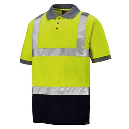 High Visible T/T Polo&Tape in Yellow Navy von Dickies (Artnum: DK22076