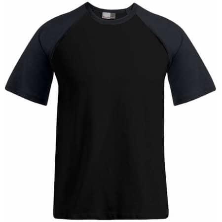 Men`s Raglan T in Black Charcoal (Solid) von Promodoro (Artnum: E1060