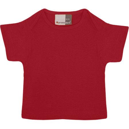 Baby-T-Shirt in Fire Red von Promodoro (Artnum: E110B