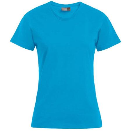 Women`s Premium-T in Turquoise von Promodoro (Artnum: E3005