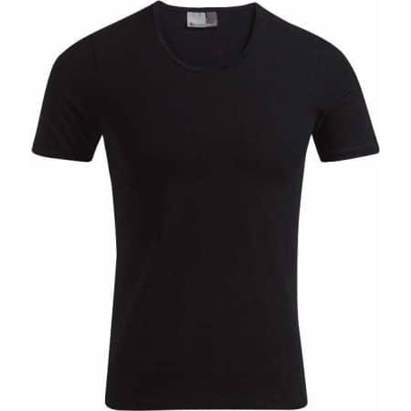 Men`s Slim Fit-T in Black von Promodoro (Artnum: E3081