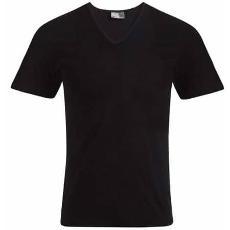 Men`s Slim Fit V-Neck-T in Black von Promodoro (Artnum: E3082