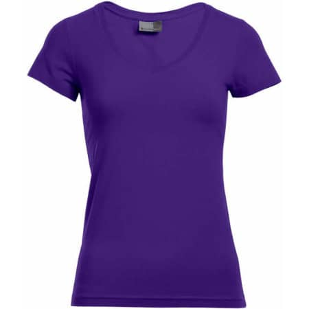 Women`s Slim Fit V-Neck-T von Promodoro (Artnum: E3086