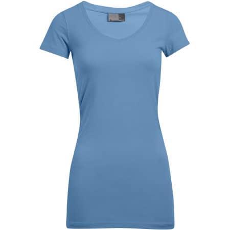 Women`s Slim Fit V-Neck-T Long von Promodoro (Artnum: E3087