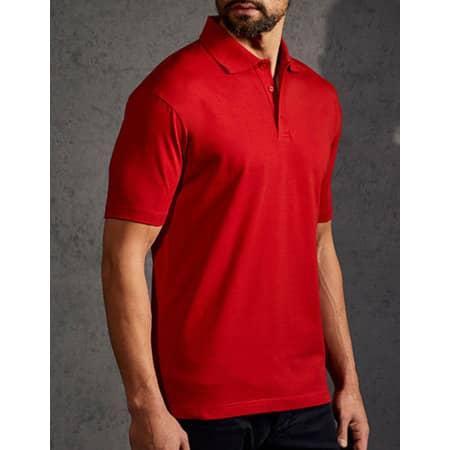 Men`s Jersey Polo in Fire Red von Promodoro (Artnum: E4020