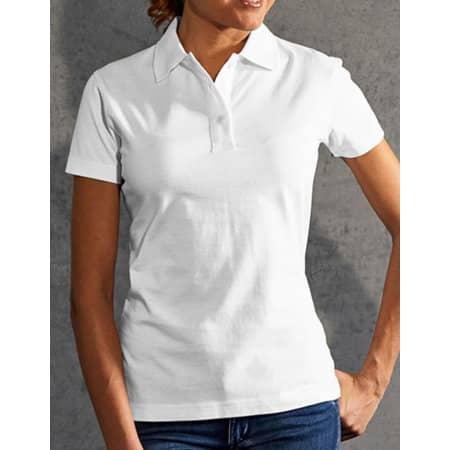 Women`s Jersey Polo in White von Promodoro (Artnum: E4025