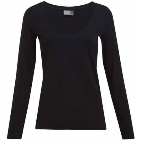 Women`s Slim Fit-T Longsleeve in Black von Promodoro (Artnum: E4085