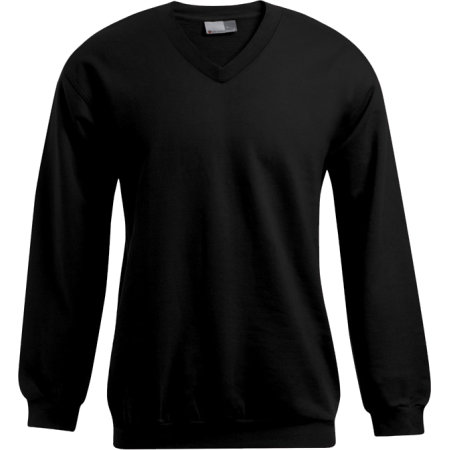 Men`s V-Neck Sweater in Black von Promodoro (Artnum: E5025
