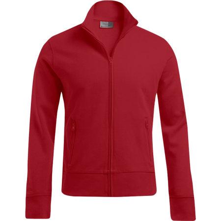 Men`s Jacket Stand-Up Collar in Fire Red von Promodoro (Artnum: E5290