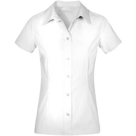 Women`s Poplin Shirt Short Sleeve in White von Promodoro (Artnum: E6305