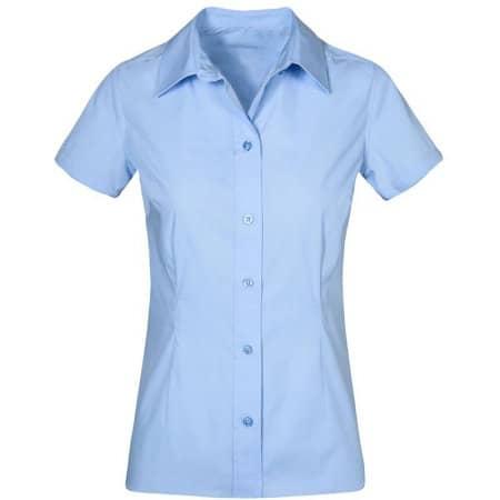Women`s Poplin Shirt Short Sleeve von Promodoro (Artnum: E6305