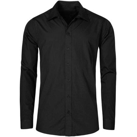 Men`s Poplin Shirt Long Sleeve in Black von Promodoro (Artnum: E6310
