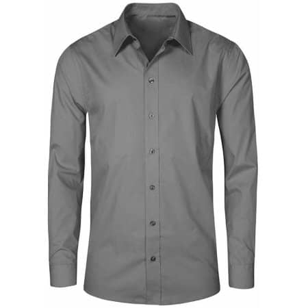 Men`s Poplin Shirt Long Sleeve in Steel Grey (Solid) von Promodoro (Artnum: E6310