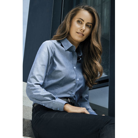 Women's Oxford Shirt Long Sleeve von Promodoro (Artnum: E6915