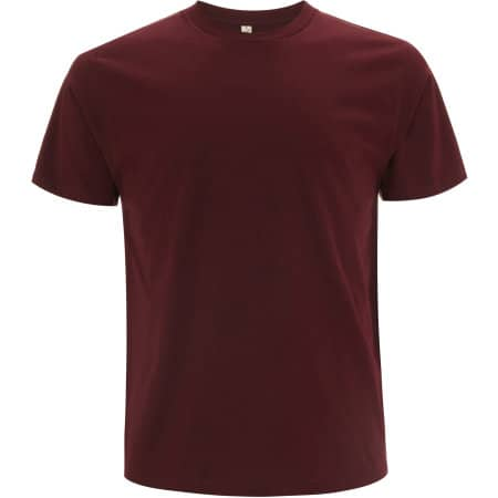 Unisex Organic T-Shirt in Burgundy von EarthPositive (Artnum: EP01