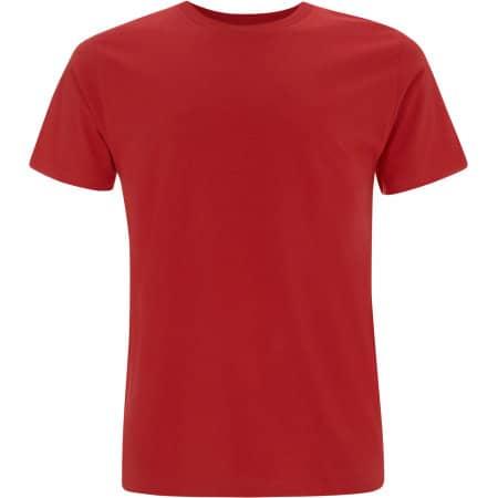 Unisex Organic T-Shirt in Red von EarthPositive (Artnum: EP01