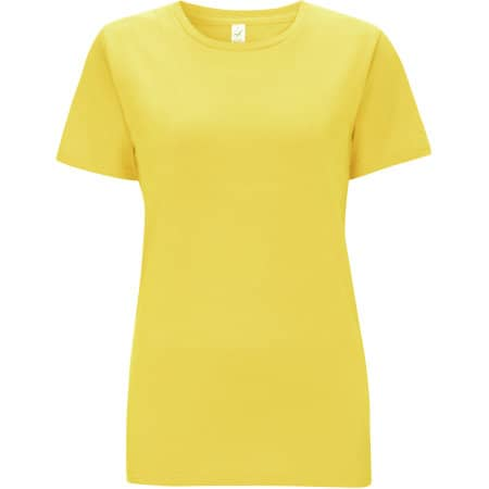 Women's Classic Jersey T-Shirt in Buttercup Yellow von EarthPositive (Artnum: EP02