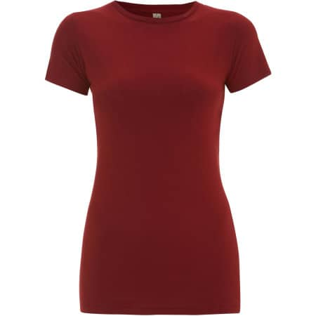 Earthpositive® Women's Slim-Fit Organic T-Shirt in Dark Red von EarthPositive (Artnum: EP04