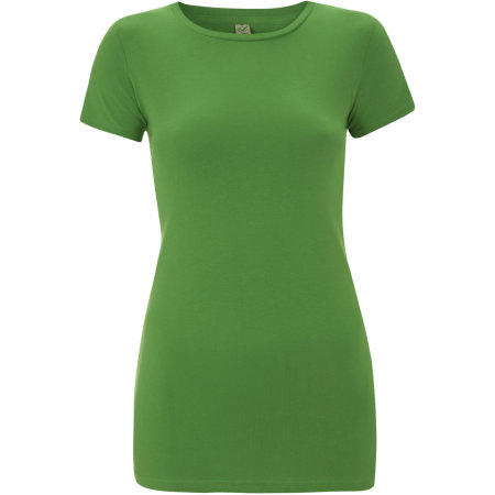 Earthpositive® Women`s Slim-Fit Organic T-Shirt in Light Green von EarthPositive (Artnum: EP04