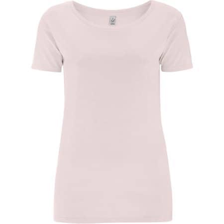 Women`s Open Neck T-Shirt in Light Pink von EarthPositive (Artnum: EP09