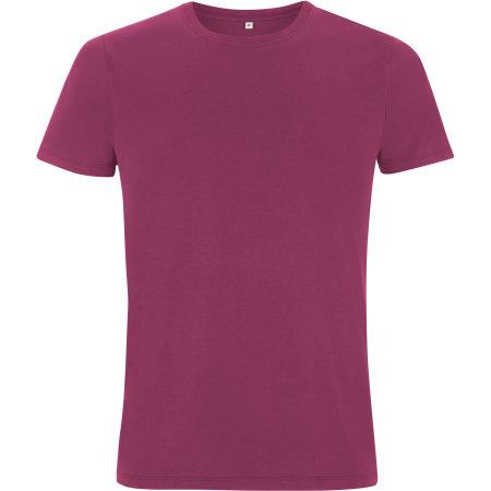 Mens/Unisex Organic T-Shirt in Berry von EarthPositive (Artnum: EP100