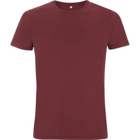 Mens/Unisex Organic T-Shirt in Burgundy von EarthPositive (Artnum: EP100
