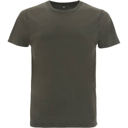 Mens/Unisex Organic T-Shirt in Stone Wash Green von EarthPositive (Artnum: EP100