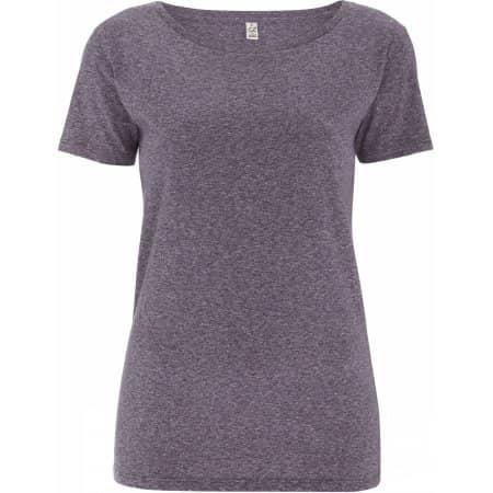 Women`s Special Yarn Effect T-Shirt in Wine Twist von EarthPositive (Artnum: EP14