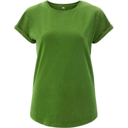 Women`s Rolled Up Sleeve Organic in Light Green von EarthPositive (Artnum: EP16