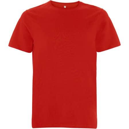 Unisex Organic Heavy T-Shirt in Red von EarthPositive (Artnum: EP18