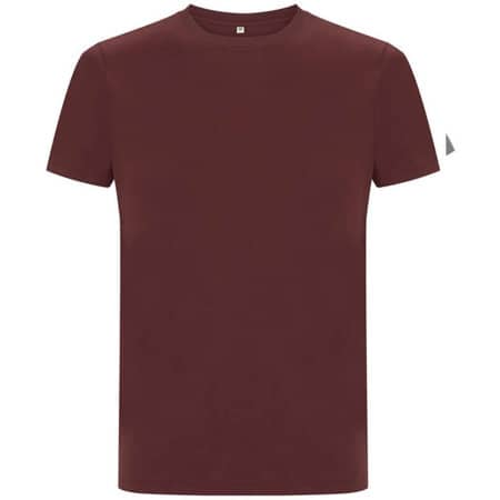 Unisex Organic Heavy T-Shirt in Burgundy von EarthPositive (Artnum: EP18