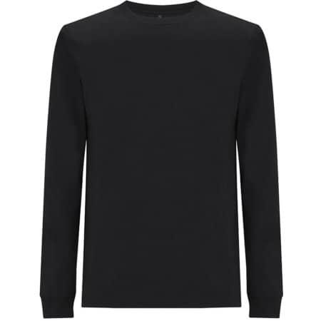 Unisex Organic Heavy Long Sleeve in  Black von EarthPositive (Artnum: EP18L