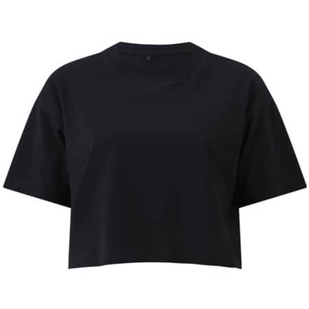 Womens Cropped T-Shirt in  Black von EarthPositive (Artnum: EP26