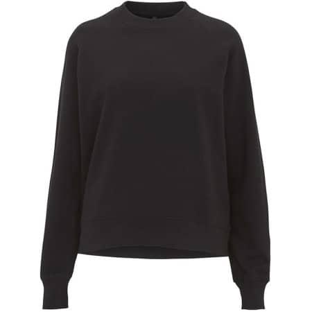 Womens Raglan Sweatshirt in  Black von EarthPositive (Artnum: EP63