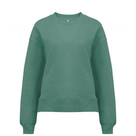 Heavy Womens Drop Shoulder Sweatshirt in Sage Green von EarthPositive (Artnum: EP64
