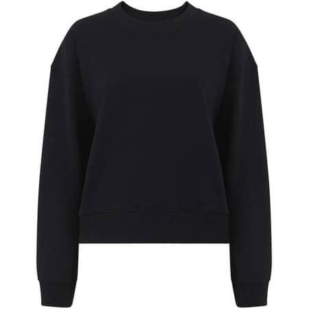 Heavy Womens Drop Shoulder Sweatshirt in  Black von EarthPositive (Artnum: EP64