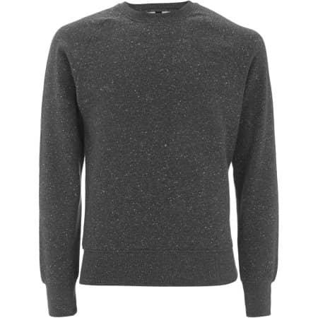 Mens Raglan-Sweatshirt in Black Twist von EarthPositive (Artnum: EP65