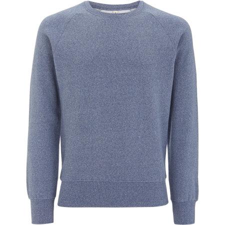 Mens Raglan-Sweatshirt in Blue Twist von EarthPositive (Artnum: EP65