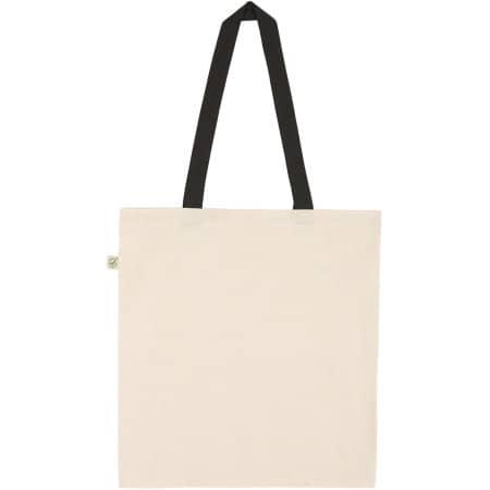 Organic Heavy Tote Bag in Natural| Black handles von EarthPositive (Artnum: EP71