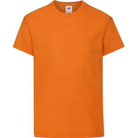 Kids Original T in Orange von Fruit of the Loom (Artnum: F110K